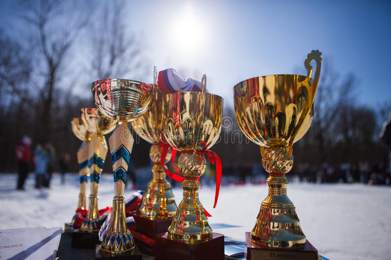 El campeonato de la taza del oro imágenes de archivo libres de regalías