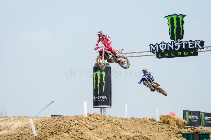 El campeonato Grand Prix del mundo del motocrós de la FIM MXGP de Tailandia foto de archivo