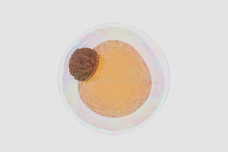 El campo de células gordas, 3d de alta calidad rinde de las células gordas, colesterol en las células libre illustration