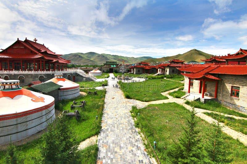 El campo de Ger en Ulaanbaatar, Mongolia foto de archivo libre de regalías