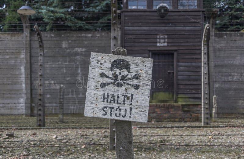 El campo de la exterminación de Auschwitz, Polonia imagen de archivo