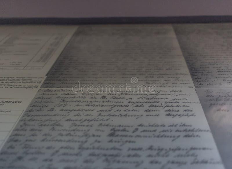 El campo de la exterminación de Auschwitz, Polonia foto de archivo libre de regalías