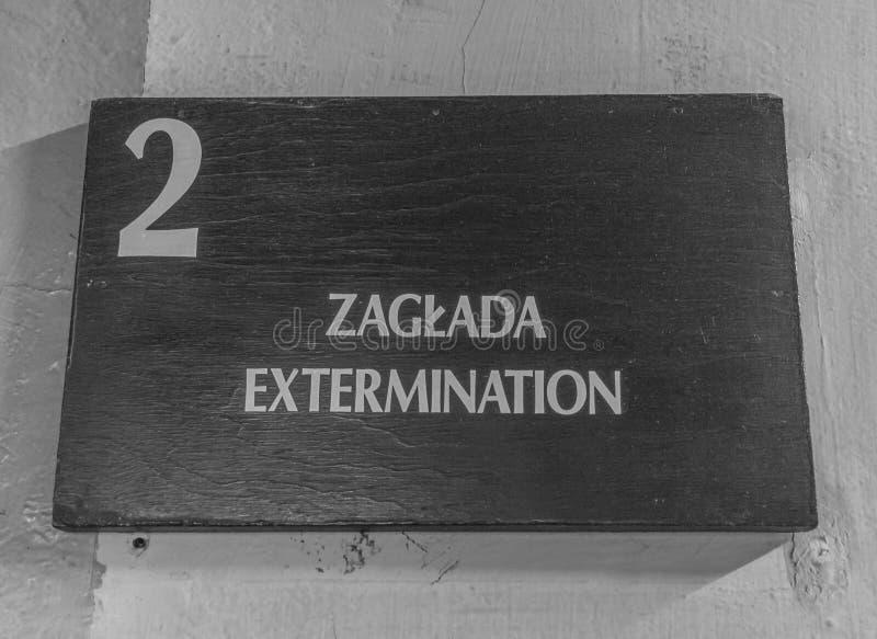 El campo de la exterminación de Auschwitz, Polonia imagenes de archivo