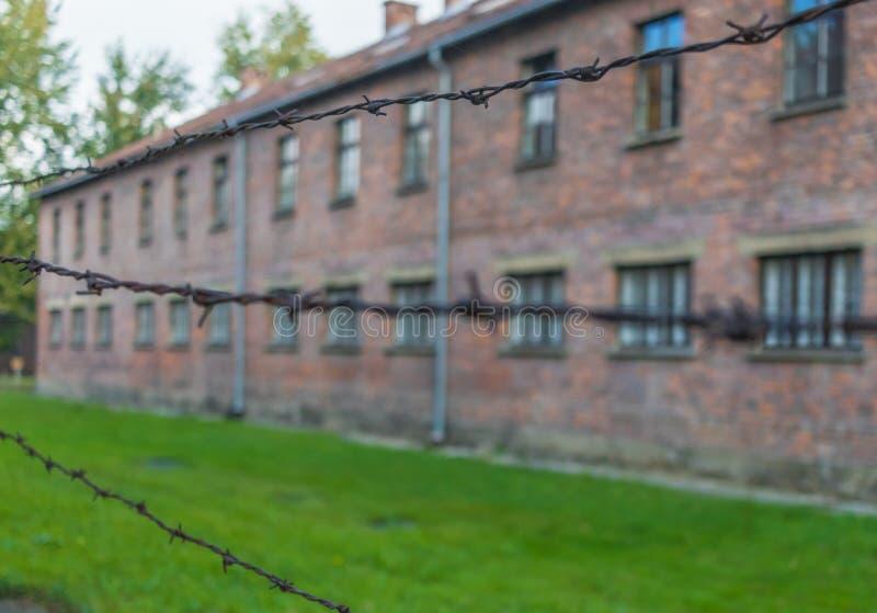 El campo de la exterminación de Auschwitz, Polonia fotos de archivo