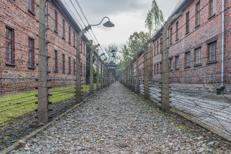 El campo de la exterminación de Auschwitz, Polonia fotografía de archivo