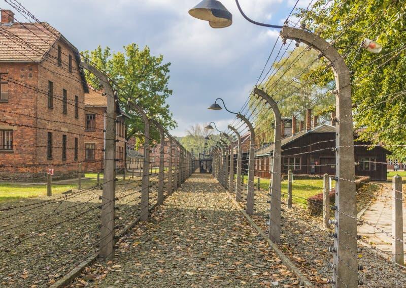 El campo de la exterminación de Auschwitz, Polonia foto de archivo