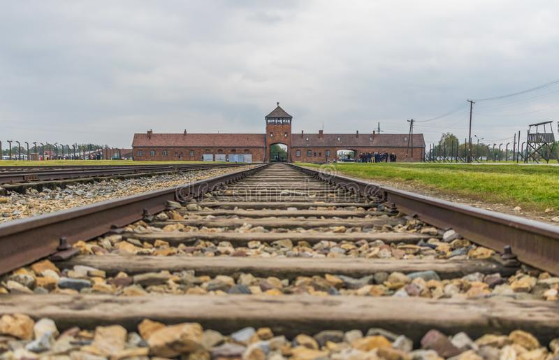 El campo de la exterminación de Auschwitz, Polonia imagen de archivo libre de regalías