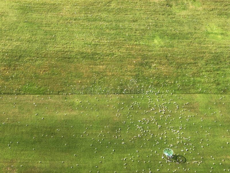 El campo de la práctica en una escuela del golf foto de archivo libre de regalías