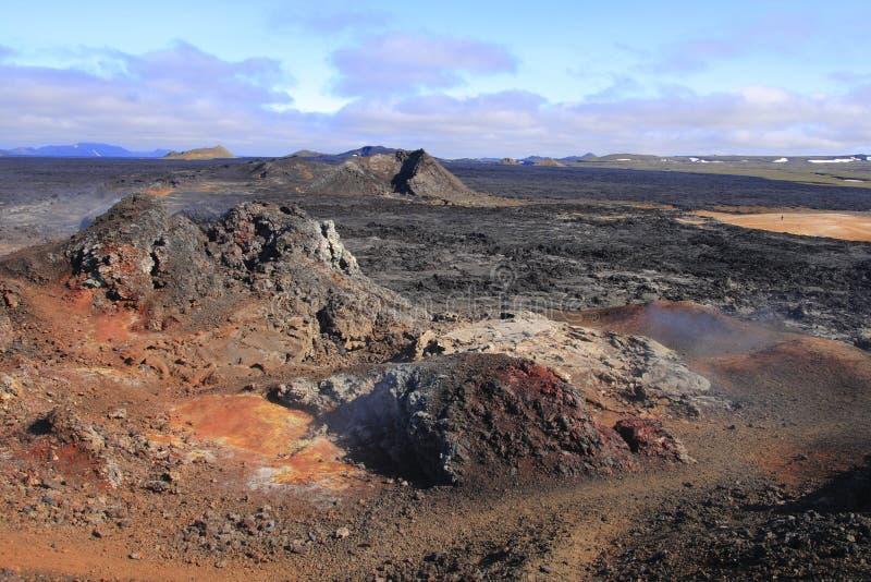 El campo de lava de Leirhnjukur imagen de archivo