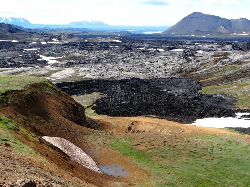 El campo de lava de Leirhnjukur imagen de archivo libre de regalías