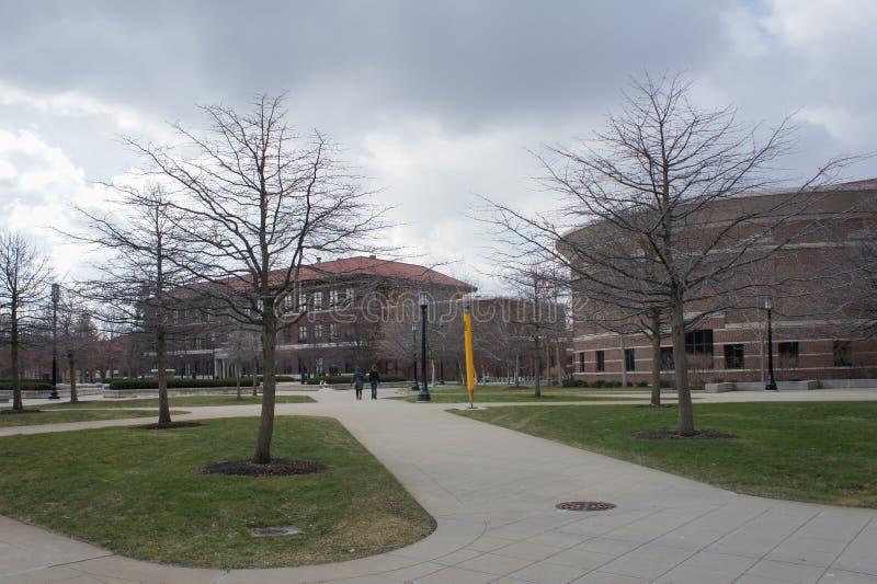 El campus hermoso de la universidad de Purdue fotos de archivo libres de regalías