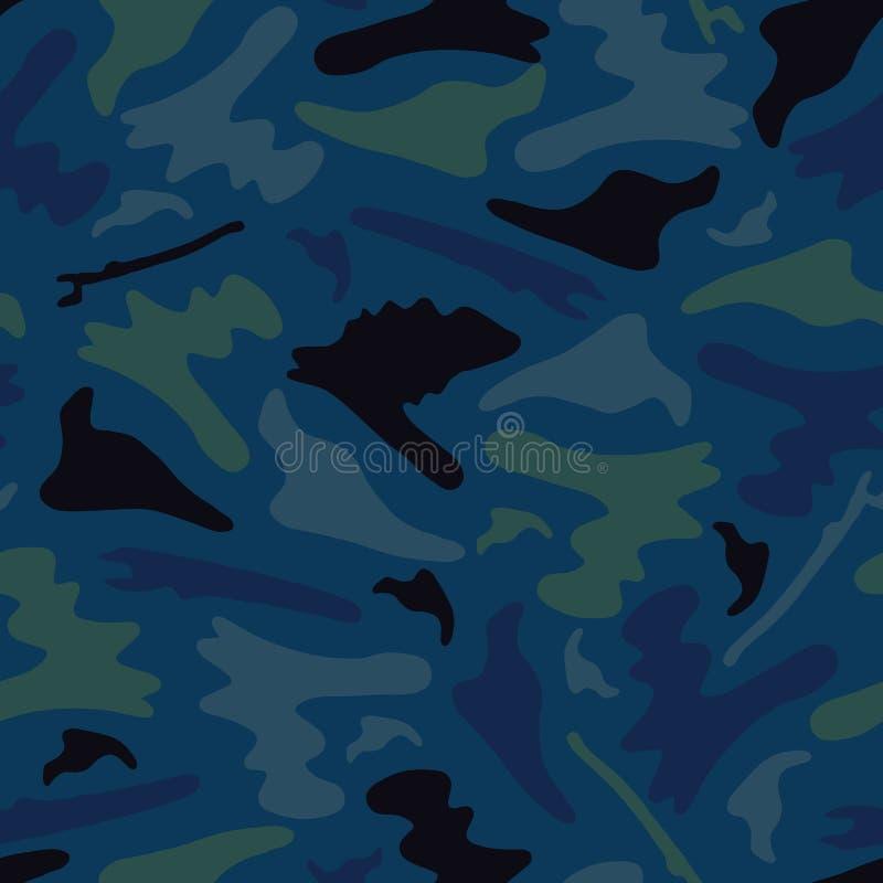 El camuflaje al aire libre forma el modelo inconsútil del vector, dibujado estilizado stock de ilustración