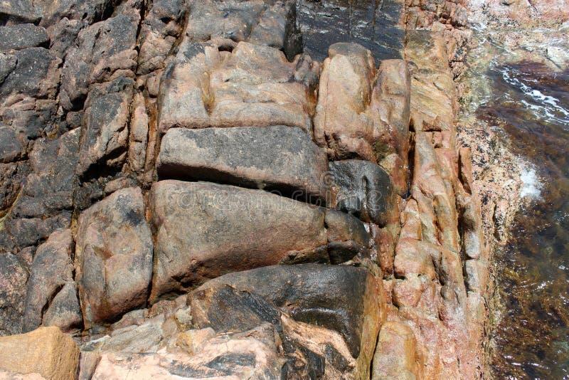 El canal antiguo de la formación de roca oscila Australia del oeste foto de archivo