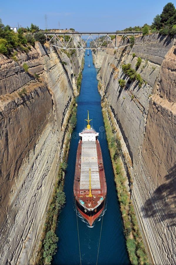 El canal de Corinto imagen de archivo