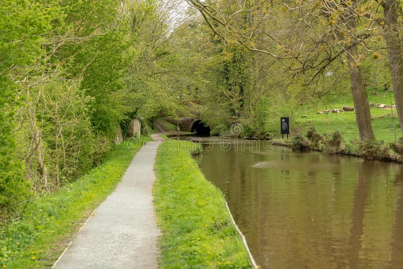 El canal de Llangollen en Shropshire, Inglaterra, Reino Unido imagenes de archivo