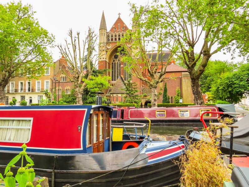 El canal del regente Poca Venecia, Londres, Reino Unido imagen de archivo libre de regalías