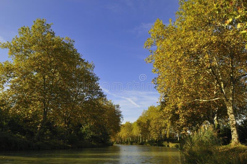 El canal du Midi fotografía de archivo