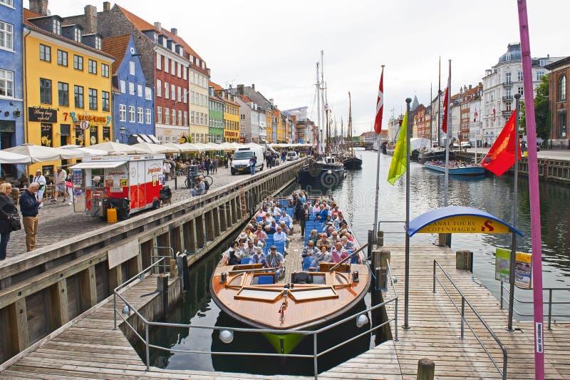 El canal viaja a Copenhague imagen de archivo libre de regalías