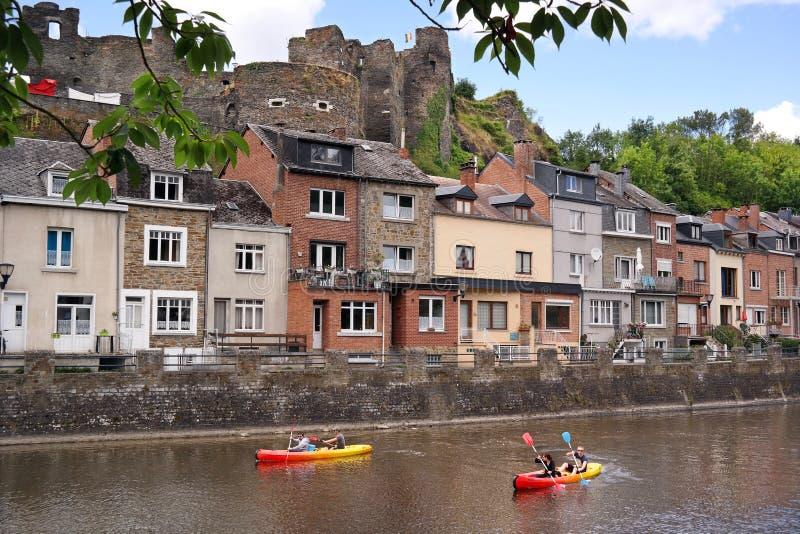 El Canoeing en el Roche-en-Ardenne del La fotos de archivo libres de regalías