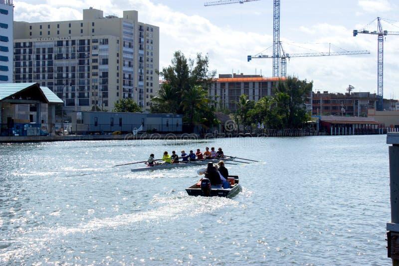 El Canoeing en la Florida fotos de archivo libres de regalías