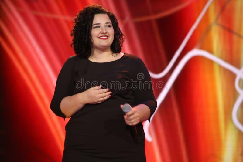 El cantante alemán Anna Naklab se realiza en la etapa foto de archivo libre de regalías