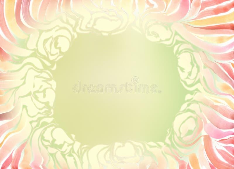 El capítulo con amarillo pintado de la acuarela florece en un fondo verde libre illustration