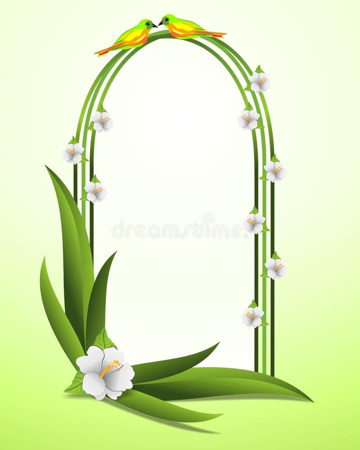El capítulo con el hibisco florece, vector de los cdr ilustración del vector