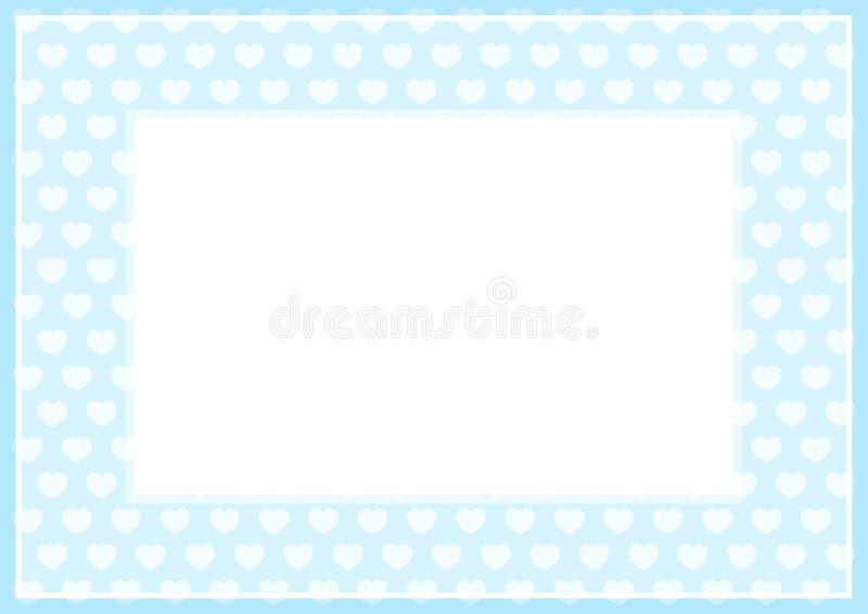 El capítulo de la suavidad azul del color en colores pastel y los corazones forman para el fondo y el Libro Blanco del espacio de stock de ilustración