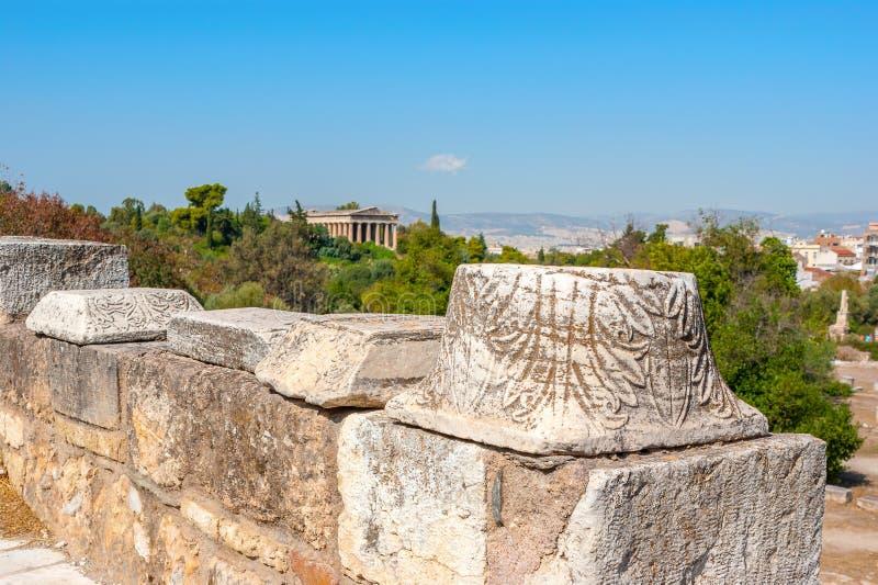 El capital de la columna foto de archivo