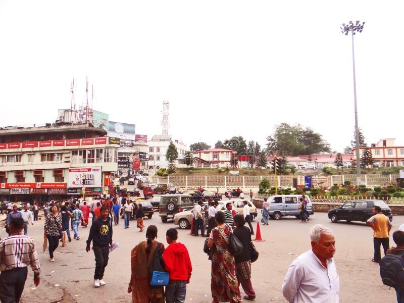 El capital del estado del noreste de Nagaland, Kohima fotografía de archivo