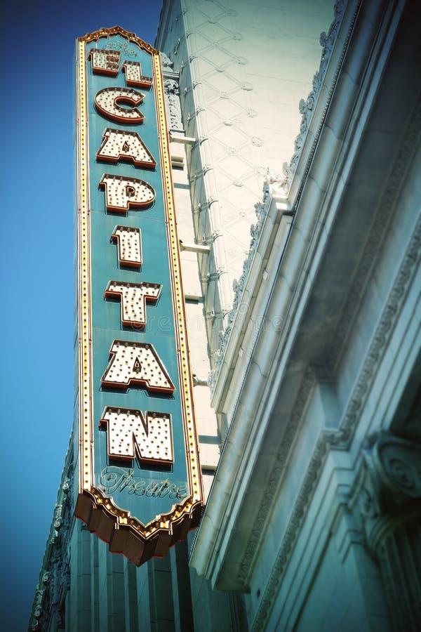 El Capitan剧院,好莱坞 库存照片