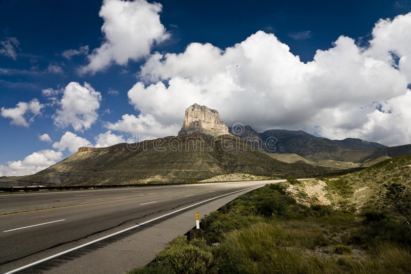 El Capitan. Guadalupe Mountains National Park in Texas, USA royalty free stock photos