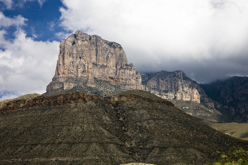 El Capitan. Guadalupe Mountains National Park in Texas, USA stock photography
