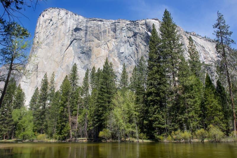 El capitan góra w Yosemite parku narodowym, California zdjęcie stock