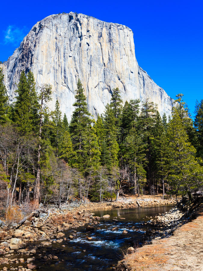 Download El Capitan And Merced River Royalty Free Stock Image - Image: 25949676