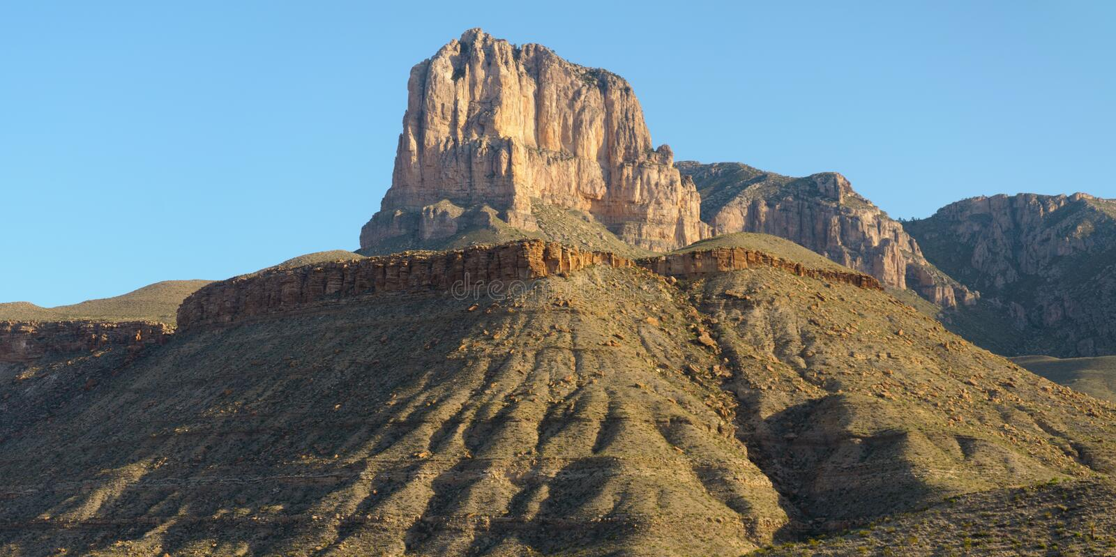 El Capitan peak. In Guadalupe Mountains National Park royalty free stock photo