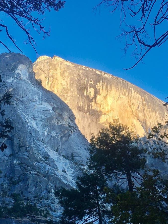 El Capitan. Sunsetshines on face of El Capitan in Yosemite royalty free stock images