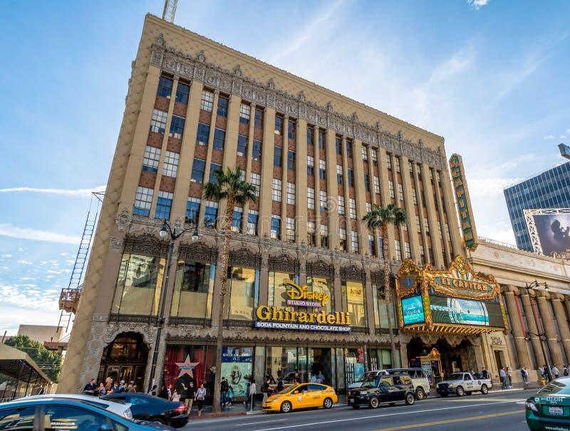 El Capitan Theater in Hollywood Boulevard - Los Angeles, California, USA royalty free stock photos