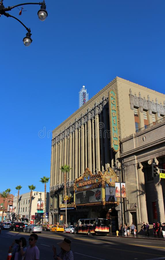 El Capitan Theatre, Hollywood. El Capitan Theatre is a movie palace that opened in 1923. The cinema is owned and operated by The Walt Disney Company stock photography