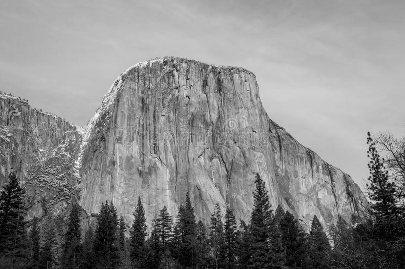 El Capitan on Winter time stock images