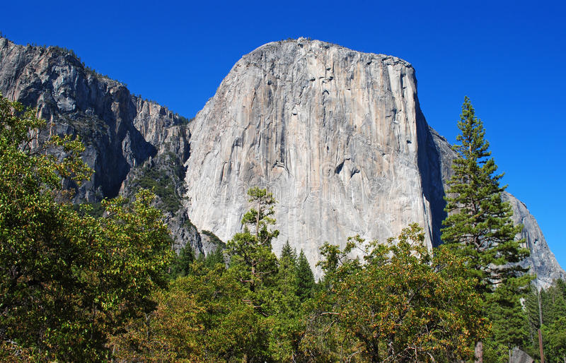 El Capitan in Yosemite. View of El Capitan in Yosemite National Park royalty free stock image