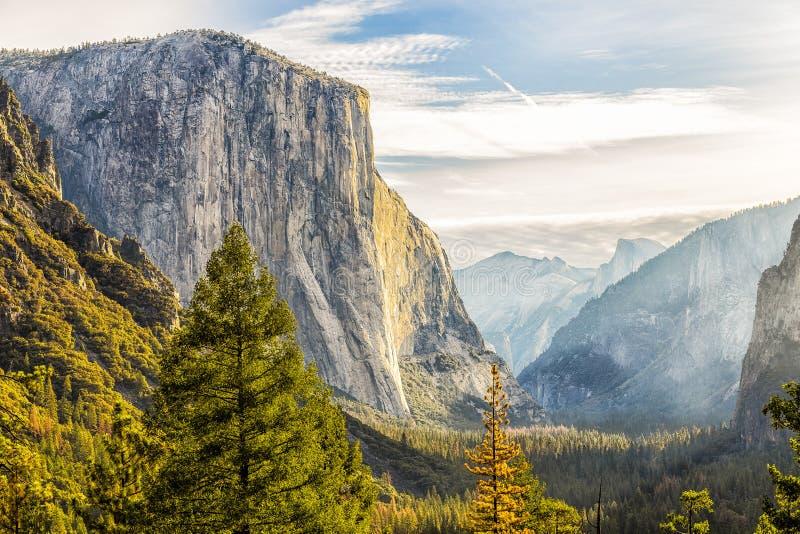 The El Capitan. In Yosemite National Park royalty free stock photos