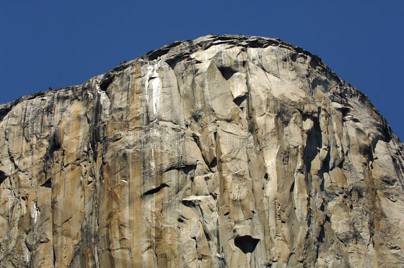 El Capitan Yosemite. El Capitan in Yosemite national park with a deep blue sky royalty free stock photo