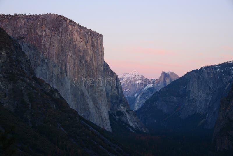 El Capitan. At Yosemite national park tunnel view stock photos