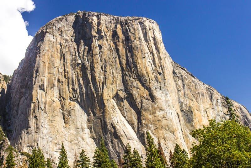 El Capitan in Yosemite Park. Historic El Capitan In Yosemite Park, California. Glacier Dome With Sheer Cliffs stock photo