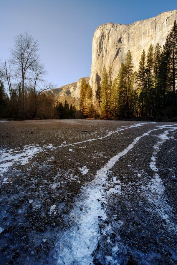 El Capitan, Yosemite park narodowy zdjęcie stock