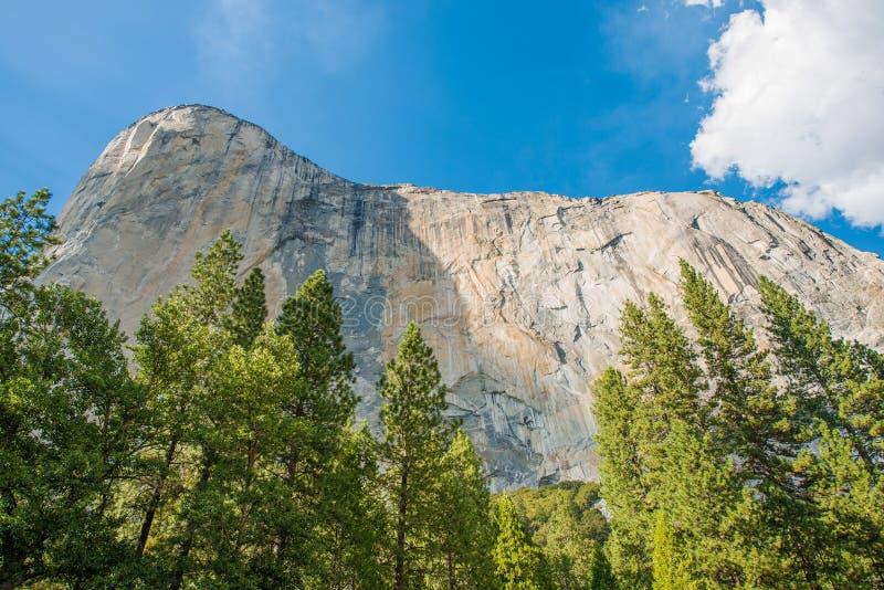 El Capitan Yosemite. Summer Yosemite Scenery. El Capitan Vertical Rock Formation. Yosemite National Park, California, United States stock photo
