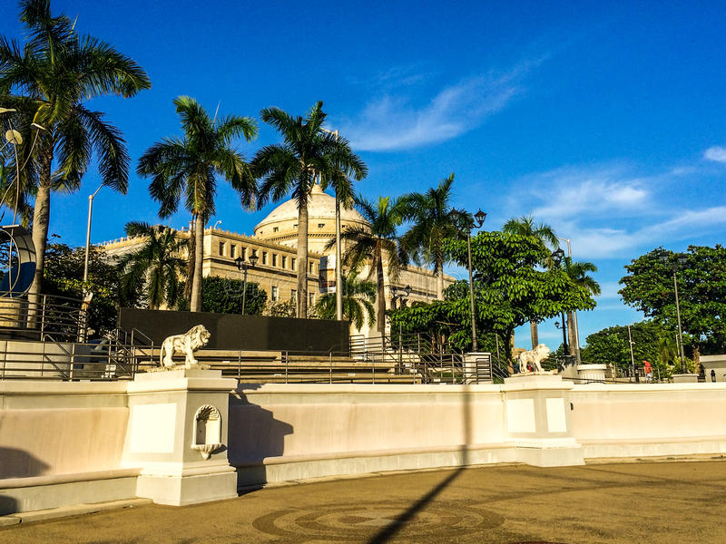El Capitolio,波多黎各国会大厦  免版税库存照片
