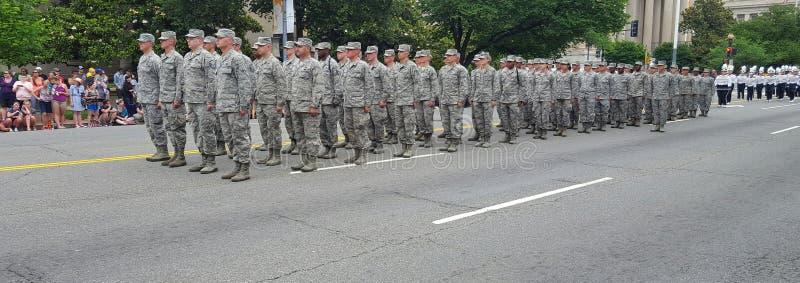 El capitolio de la nación del desfile de Memorial Day imagen de archivo