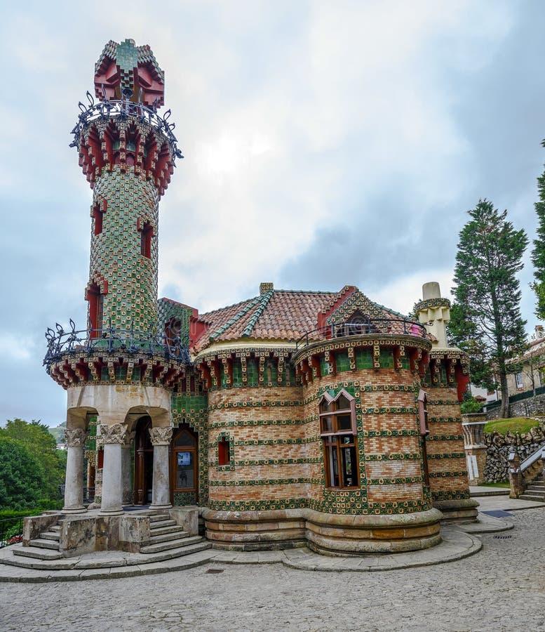 EL Capricho του Antonio Gaudi Comillas, Ισπανία στοκ εικόνες με δικαίωμα ελεύθερης χρήσης